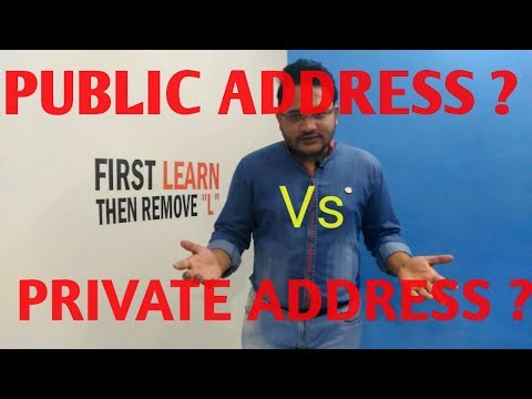 PUBLIC ADDRESS  Vs  PRIVATE ADDRESS IN CRYPTO WALLETS