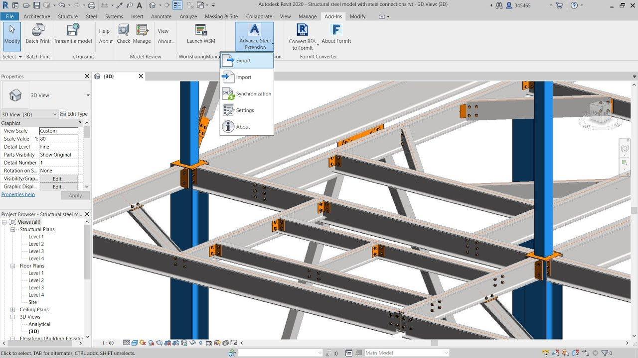 Advance Steel Extension for Revit 2020 | Revit Products 2020
