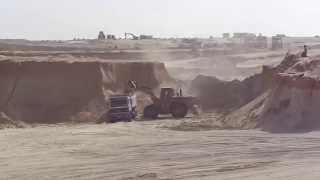 Suez Canal new: a scene in the dig morning  September 30, 2014