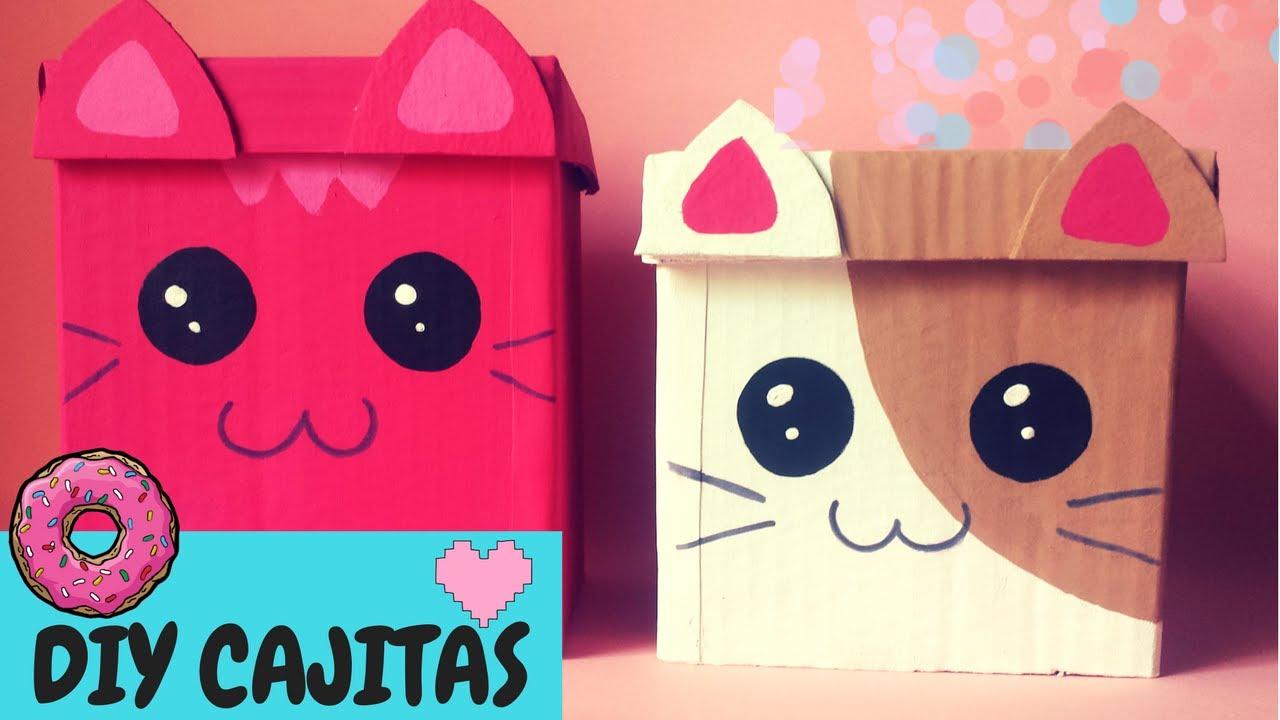 Como hacer una caja kawaii diy manualidades para organizar - Cajas para manualidades ...