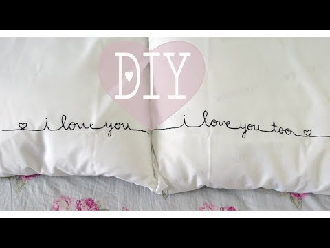 Diy Couples Pillow Cases Youtube