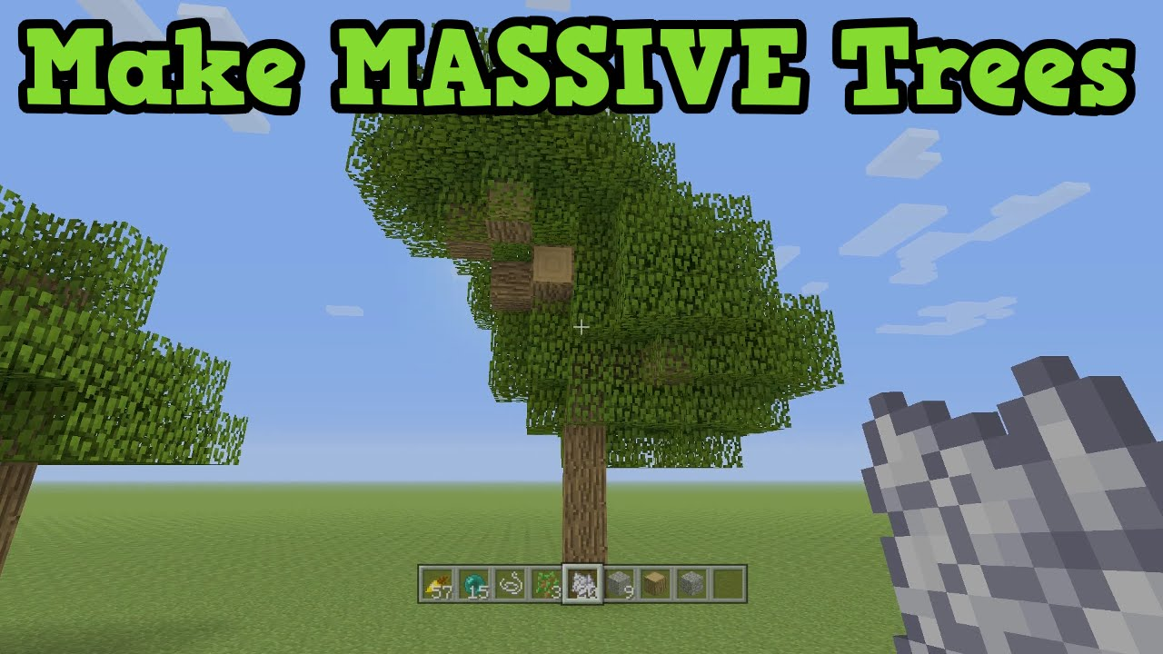 How to make a tree in minecraft