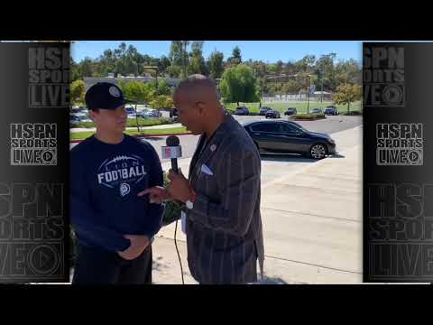 INTERVIEW - ALEX RUIZ SR. QB LINFIELD CHRISTIAN - LIVE HIGH SCHOOL FOOTBALL BROADCAST & LIVE STREAM