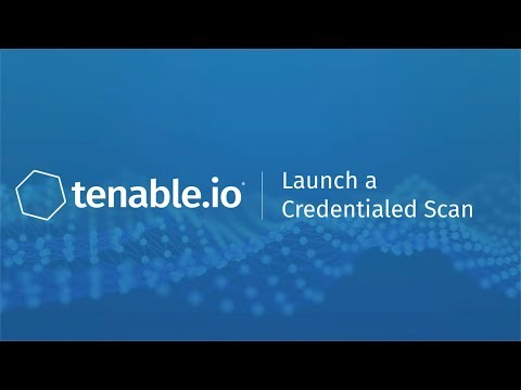 Launch a Credentialed Scan in Tenable io - YouTube