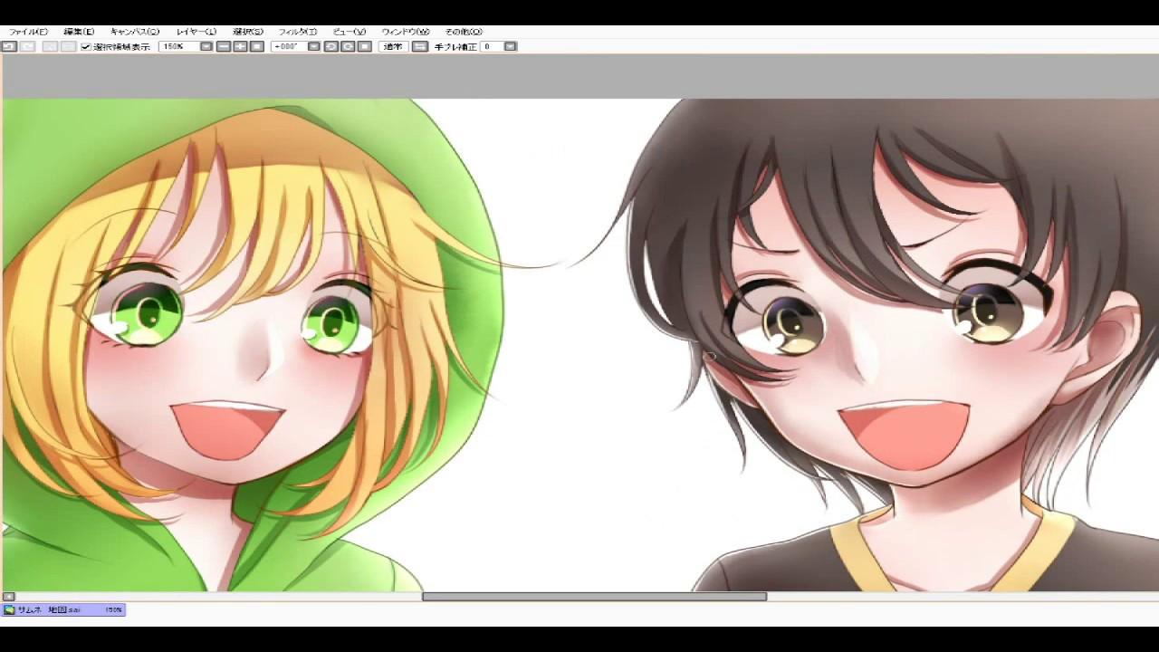 Sai夢せかサムネの色塗りメイキング Part1マカロン Youtube