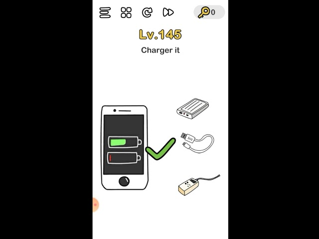 Brain Out Can You Pass It Level 145 Charger It Youtube
