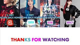2NE1 - HATE YOU COLOR CODED /HAN/ROM/ENG