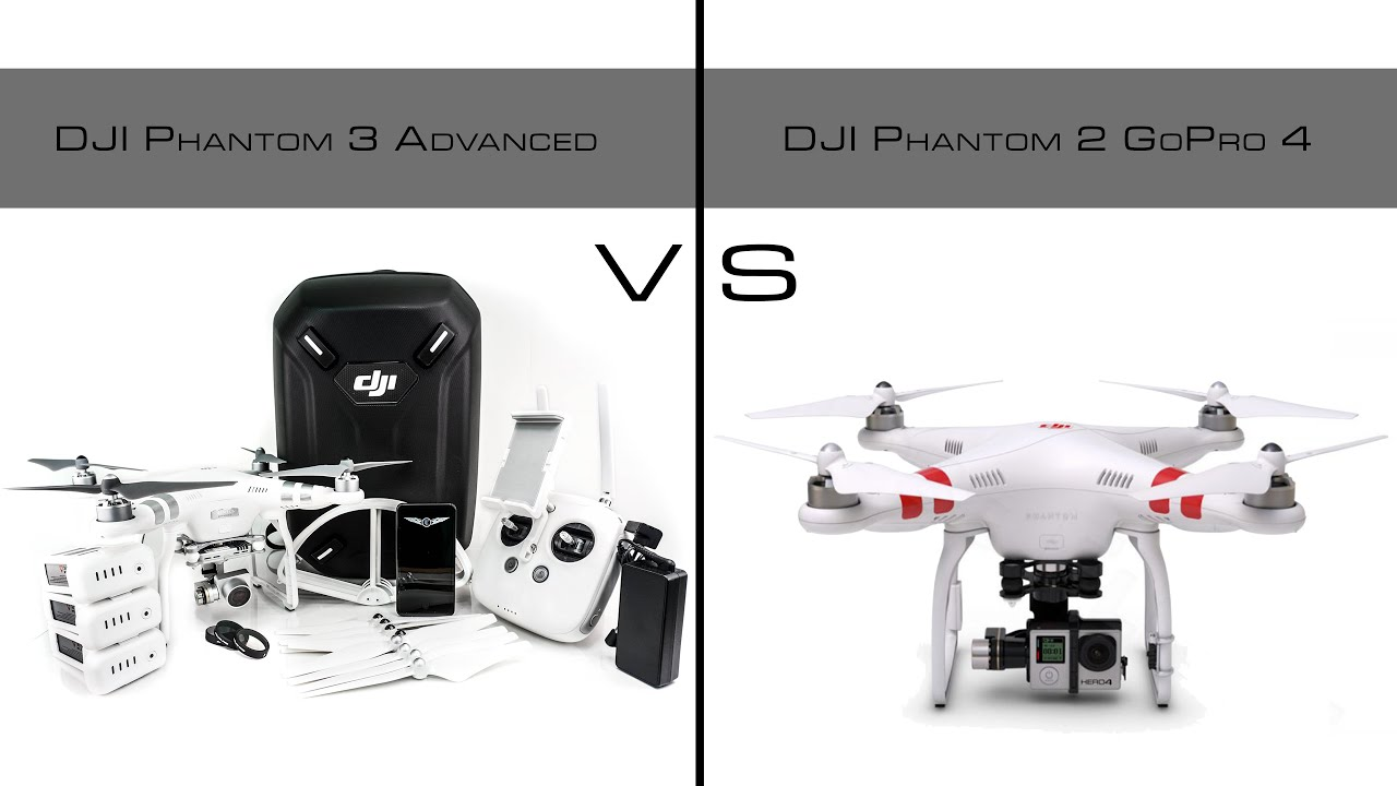 DJI Phantom 3 Advanced Vs 2 With GoPro Hero 4 Black