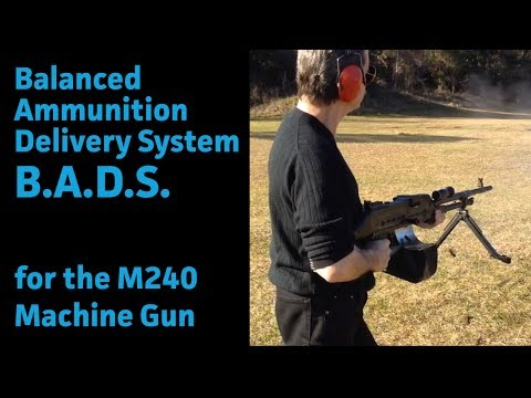 Balanced Ammunition Delivery System (B.A.D.S.) for the FN MAG/M-240 and the German MG3 machine