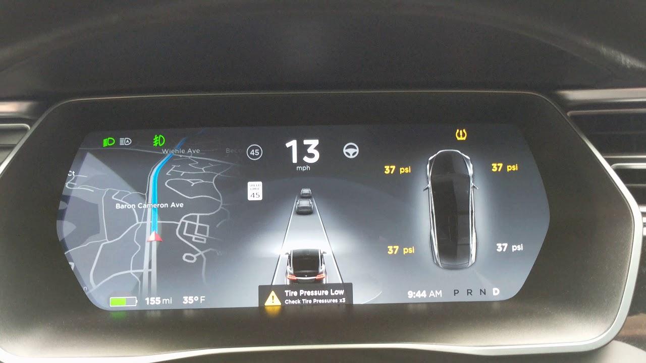 Tesla tire pressure