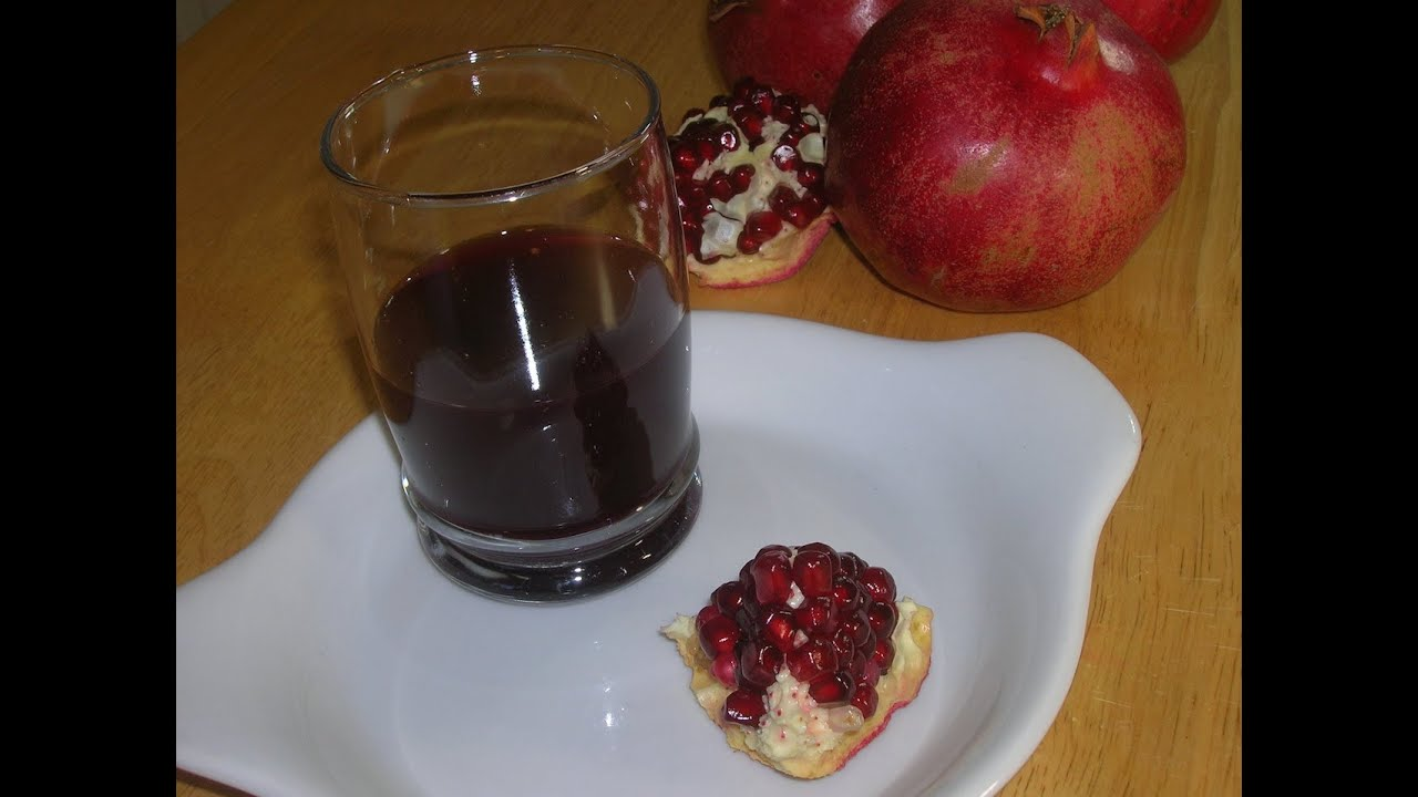 How To Make Pomegranate Juice - YouTube