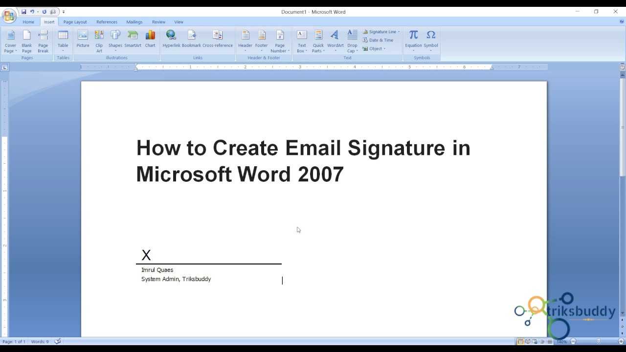 How to Create Digital Email Signature in Microsoft Word