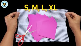 WOW Very Easy Face Mask All Size S M L XL Very Breathable Face Mask Face Mask Sewing Tutorial