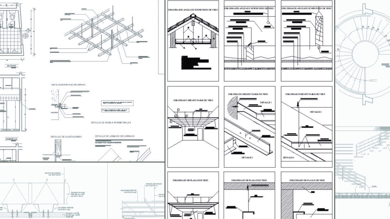 Ceiling Cad Details Youtube