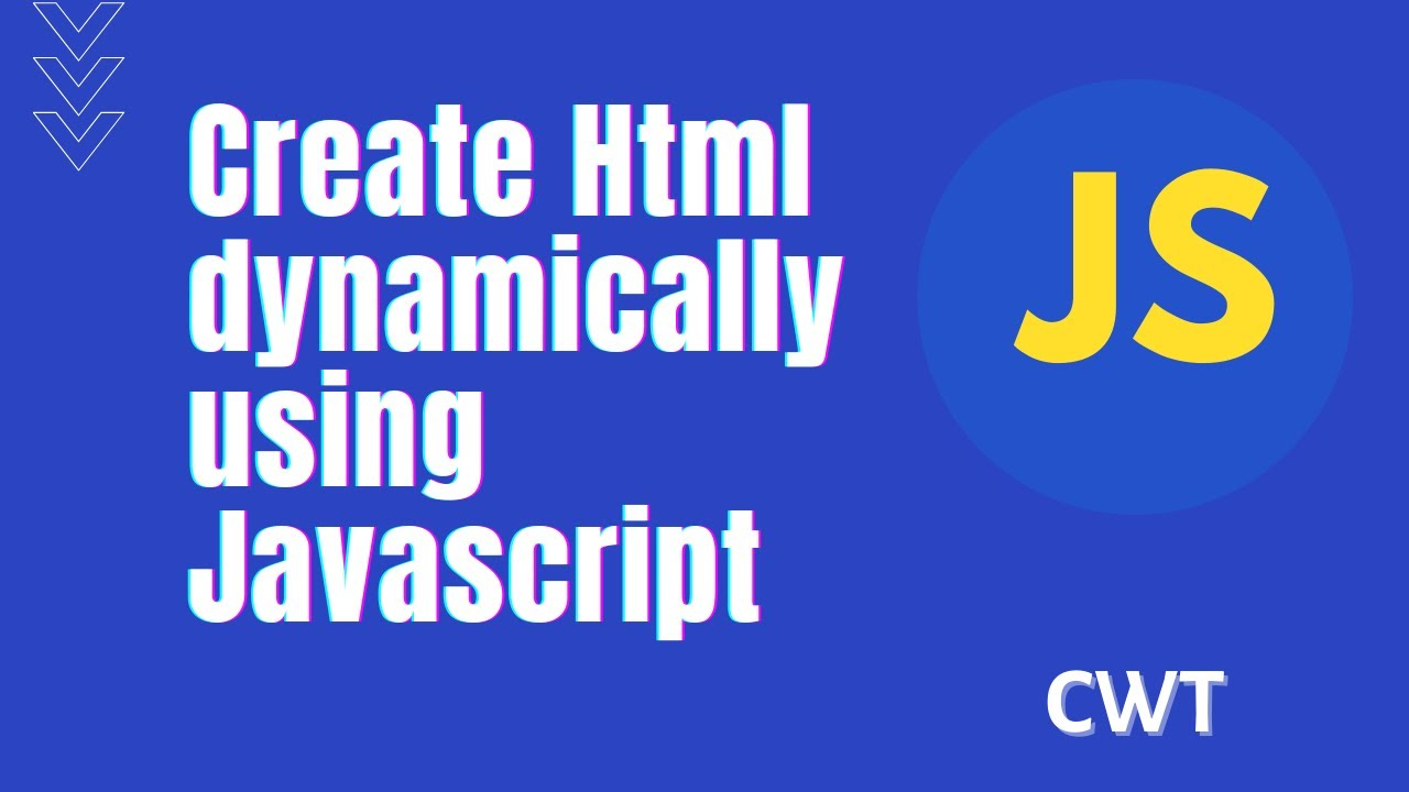 Video 3: Create HTML elements dynamically