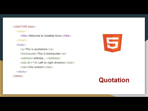 HTML Quotation And Citation Elements | Blockquote, Abbr | HTML Tutorial For Beginners  #10