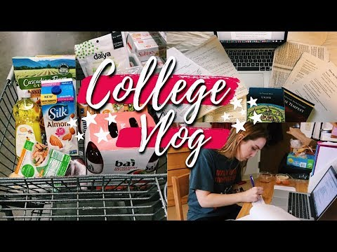College Week in My Life: Midterms, Grocery Hauls, What I Eat, & Our Entire Campus Flooded 😱