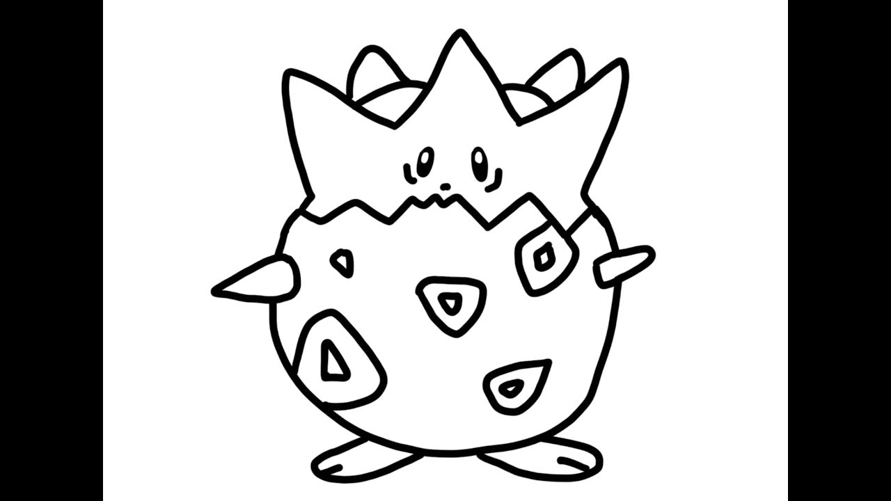 Dibujando A Pokemon Togepi Para Colorear Youtube