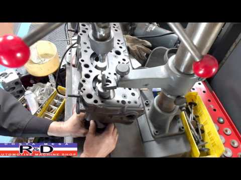 Olds Valve Guide Drilling & Reaming on the IDL