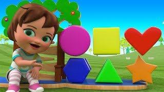 Shapes & Colors for Kids to Learning Little baby Girl Fun Play Shapes Toys 3D Kids Educational