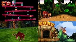 Evolution of First Levels in Donkey Kong games