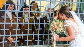 Monjas de clausura sorprenden a novia con el perfecto regalo de bodas