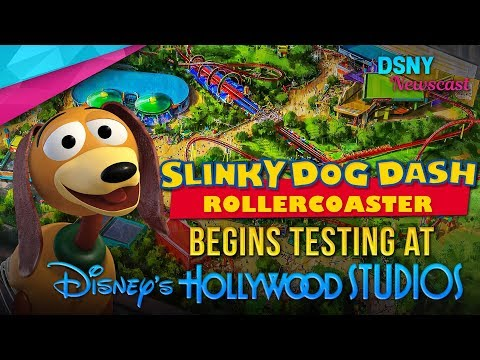 Slinky Dog Dash Rollercoaster Begins Testing at Disney's Hollywood Studios - Disney News - 9/24/17