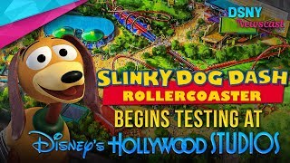 Slinky Dog Dash Rollercoaster Begins Testing at Disney's Hollywood Studios - Disney News - 9/24/17