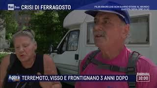 Terremoto, Visso e Frontignano 3 anni dopo - Agorà Estate 09/08/2019