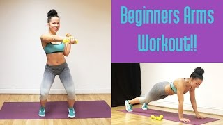 Beginners Arms Workout For Women // Best 6 Exercises To Tone the Arms