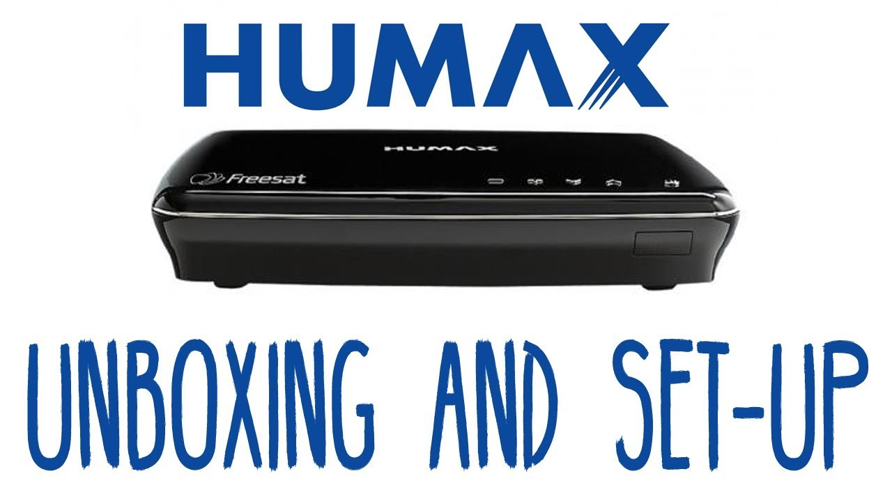 Humax HDR-1100S Unboxing and How to Set Up