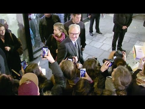 Francis Lawrence and Nina Jacobson at the Premiere of the new Hunger Games, Mockingjay Part 2 in Par