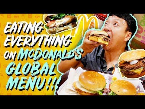 Eating ALL of McDonalds NEW INTERNATIONAL MENU! Global Menu Review!