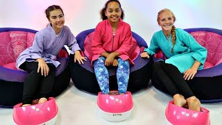 ORBEEZ SPA DAY CHALLENGE!!