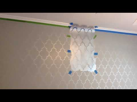 Dining Room Wall Stencil DIY Project!