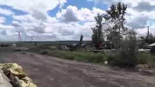 Обстрел колонны сил АТО под Славянском 28 06 14