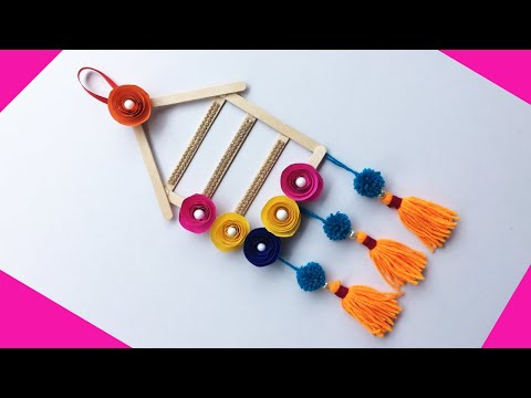DIY ROOM DECOR / Wall Hanging / Popsicle Stick or Ice Cream Stick Craft / Best out of waste ideas
