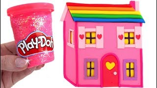 Learn Colors Play Doh Making Colorful Baby Dolls House Surprise Toys Disney