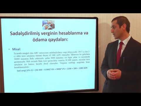 Video dərs 12: Xidmət və ticarət müəssisələri üçün sadələşdirilmiş vergi