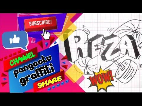 Belajar Menulis Nama Reza Dengan Model Graffiti Pangestu Graffiti