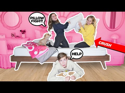 I Spent The Night In My Crush's House & She Had No Idea **24 HOUR CHALLENGE** 😱| Sawyer Sharbino
