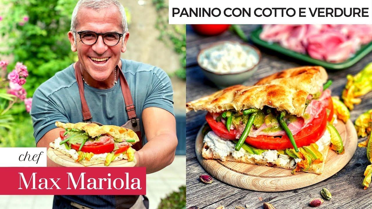 PANINO con PROSCIUTTO COTTO e VERDURE 😍 LEGGERO e DELIZIOSO! - Chef Max Mariola