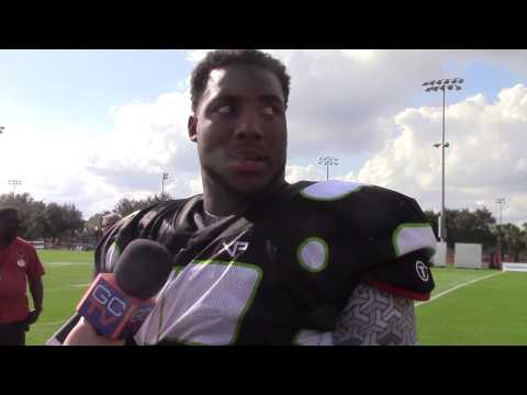 Byron Cowart at Under Armour Practice