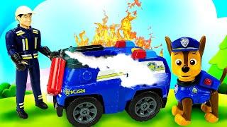 Щенячий Патруль охраняет город — Авария с машинками — Новые мультики для малышей про машинки