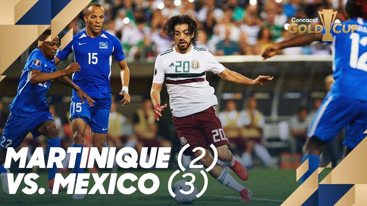 Martinique 2, Mexico 3 | 2019 Concacaf Gold Cup Match Recap