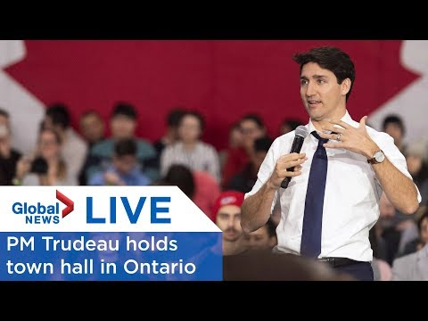 LIVE: Justin Trudeau's town hall tour rolls into St. Catharines, Ont.