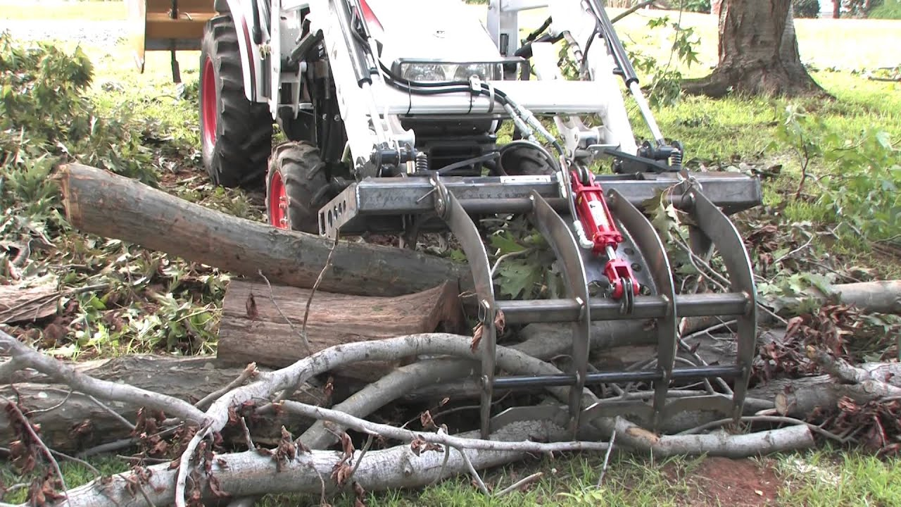 How To Use A Root Grapple On A Compact Utility Tractor