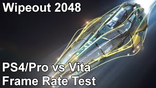 Wipeout 2048 PS Vita vs PS4 vs PS4 Pro Frame Rate Test (Omega Collection)