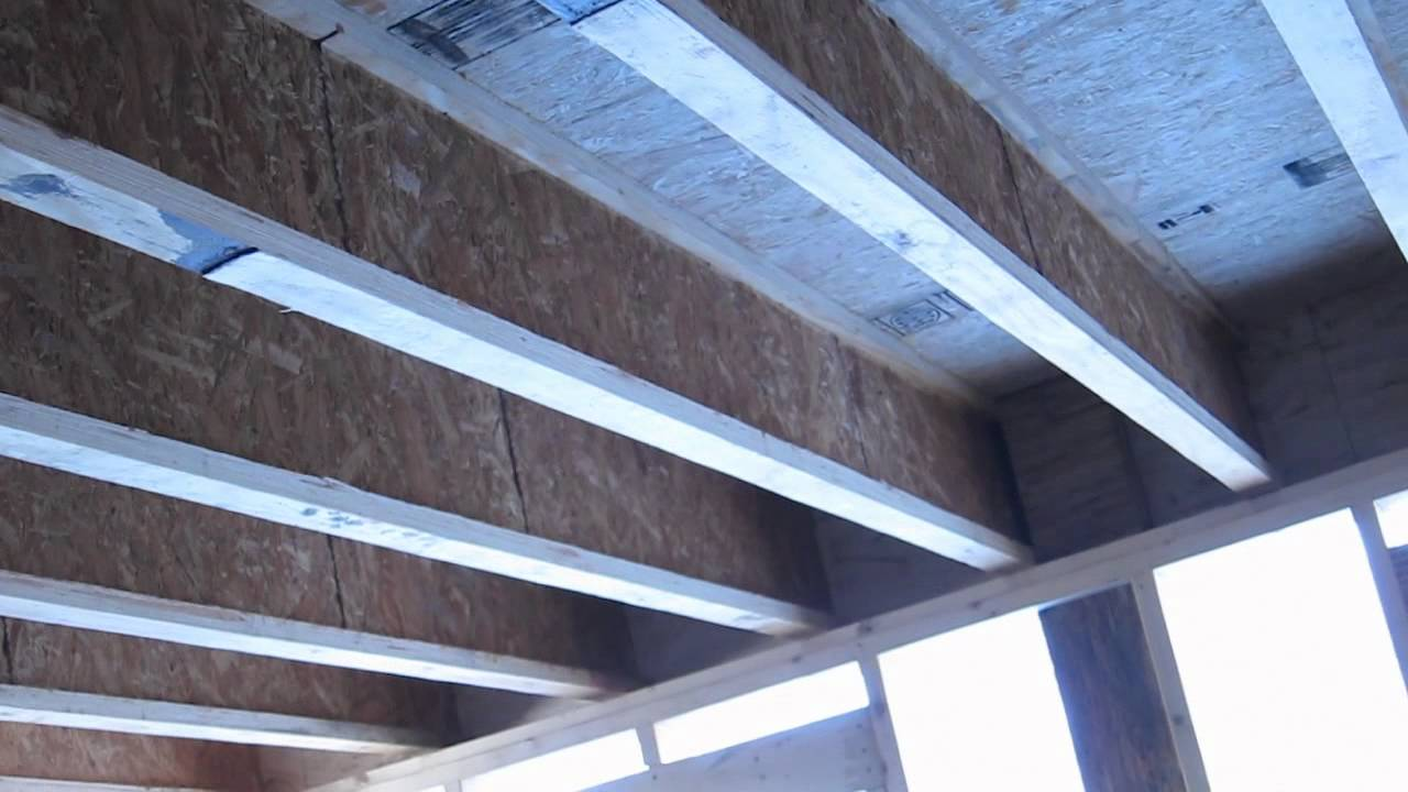 Tji Floor Framing And Support Beams Youtube