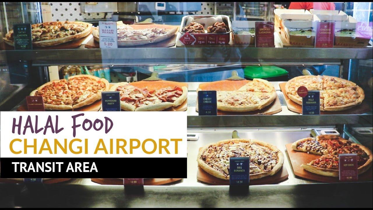 Changi Airport Singapore Halal Food At Changi Airport Transit Area Youtube